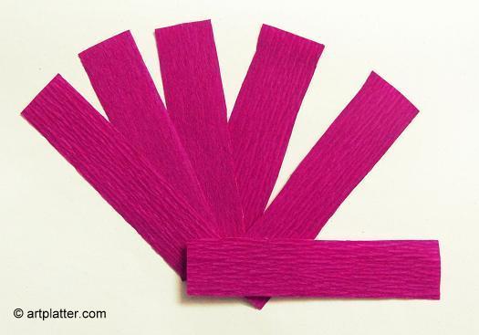 Как се правят лалета от креп хартия