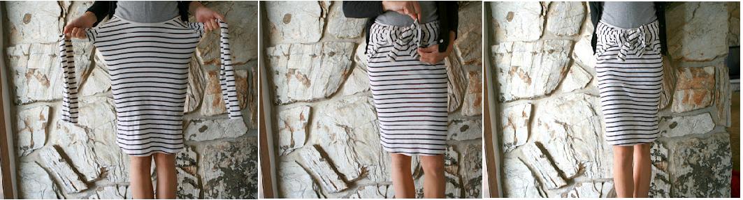Модерна пола с панделка