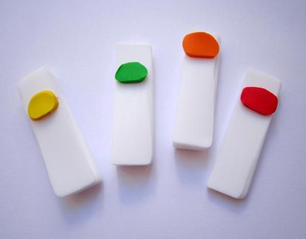 Обици с прозрачна полимерна глина