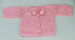 Бебешка плетена жилетка