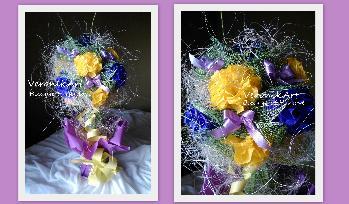Букет - цветя от хартия