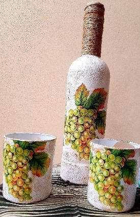Бутилка с чаши