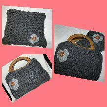 Чанта и шал с цвете