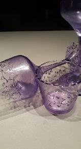 """Чаши със свещник """"Цвят Лила"""" комплект"""