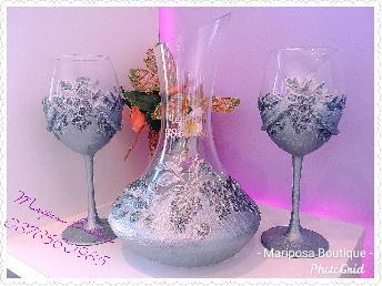 Чаши за вино с гарафа Подарък за юбилей и друг повод