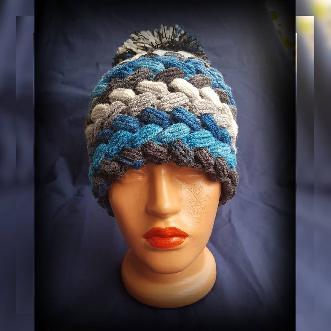 Дамска Шапка ръчна изработка. Шапка ръчно плетиво. Плетена шапка. Шапка Handmade. Зимна шапка
