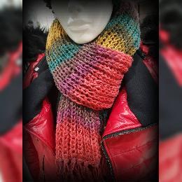 Дамски Шал ръчна изработка. Шал ръчно плетиво. Плетен шал. Шал Handmade. Зимен шал.