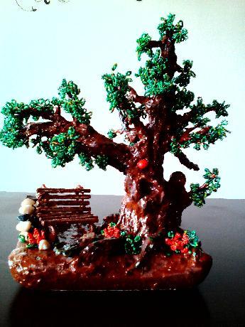 Дърво от мъниста.