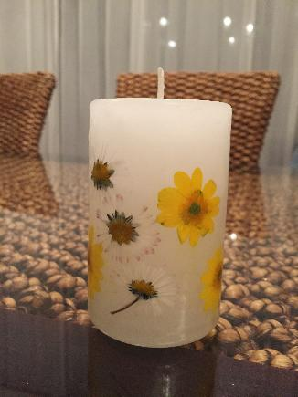 Декоративна свещ 'Пролетни цветя'
