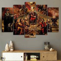 """Декоративно пано за стена от 5 части """"Заветът на хан Кубрат"""" - HD-914"""