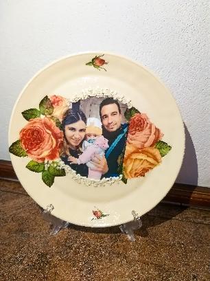 Декупаж на чиния със снимка по избор