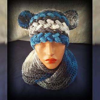 Детски комплект Шапка и шал яка комплект Handmade. Плетена шапка и шал. Шапка и шал ръчна изработка. Комплект оригинален