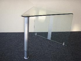 Дизайнерска маса-нестандартна-нова,огънато и закалено стъкло