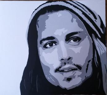 Джони Деп поп арт портрет