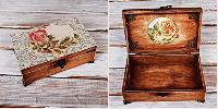 Елегантна Дървена кутия подарък за рожден ден, подарък за нея, кутия за бижута
