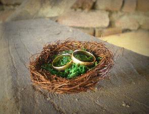 Гнездо за сватбени халки
