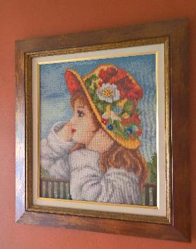 """Гоблен """"Момиче с шапка"""""""