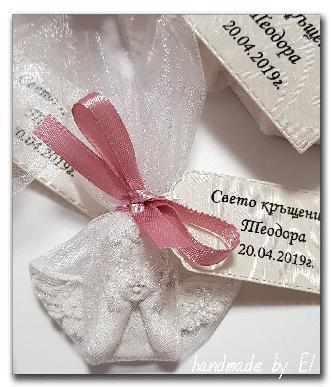 Големи гипсови ангелчета подаръци за гости , кръщене