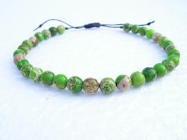 """Гривна от полускъпоценен камък зелен """"Регалит"""""""