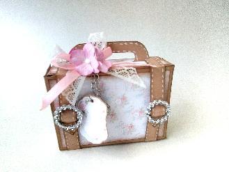 Картичка-кутийка мини куфар