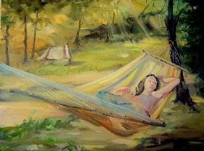 Картина, маслени бои върху платно - оригинал
