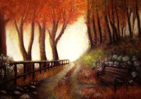 """Картина """"Пътеката на есента"""""""