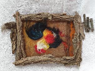 Картина плъстене с вълна с горски мотиви