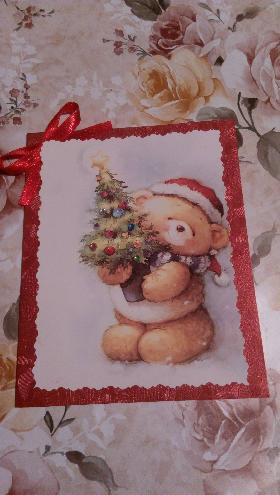"""Коледна картичка- """"Мечето"""""""