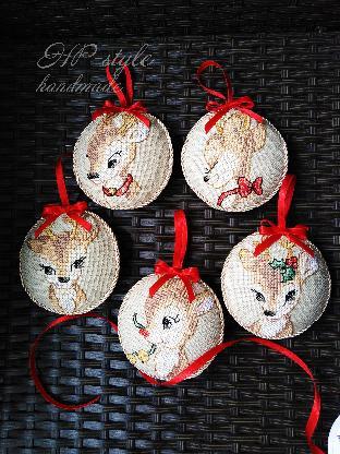 Коледна украса ръчна изработка