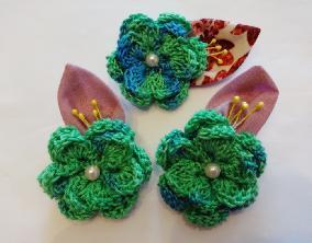 Комплект Зелена свежест Оригинален подарък Плетени цветя