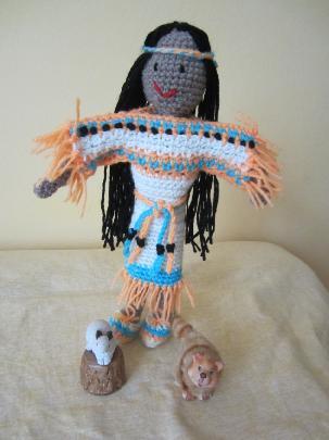 Кукла индианска принцеса
