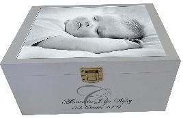 Кутия за дрехи - кръщене,новородено бебе с персонализирано име