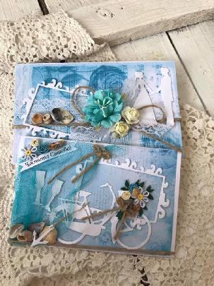 Морска сватбена картичка и плик за пари