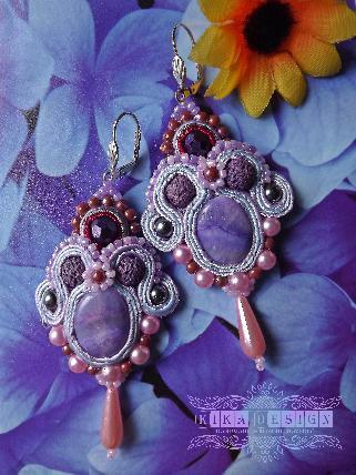 """Обеци """" violet """""""