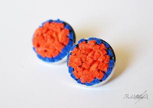 Orange studs