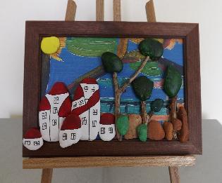 Пано ''Къщички от камъчета''