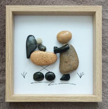 Пано от морски камъчета