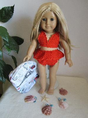 Плетен бански комплект за кукла