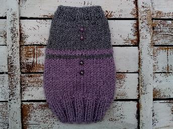 Плетен пуловер за кученца