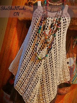 Плетена рокля (туника) на една кука