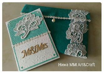 Плик и картичка за сватба