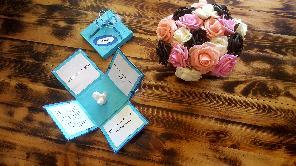 Покана за кръщене и рожден ден-картонена кутийка