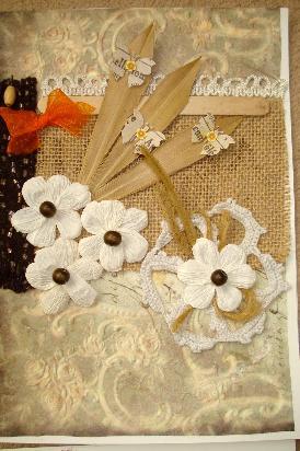 Ръчно изработена картичка с цветчета