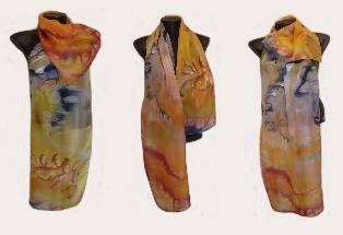 Ръчно рисуван копринен шал ЕДНА МЕЧТА