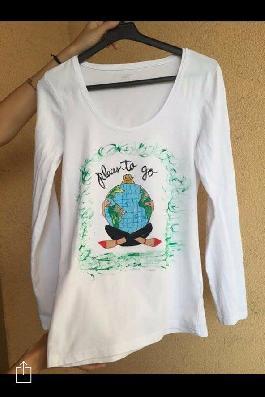Ръчно рисувана блуза