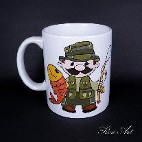 Ръчно рисувана чаша ''Рибар''