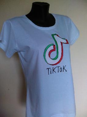 Ръчно рисувана тениска Тик Ток