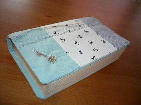Ръчноизработена текстилна подвързия за книга -  ПРОДАДЕНА