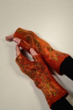 Ръкавици без пръсти от филц