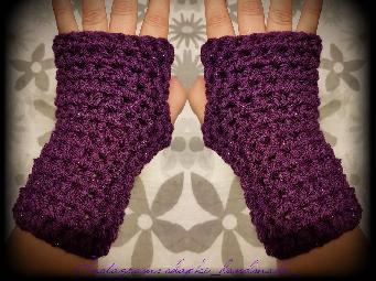 Ръкавици без пръсти ръчна изработка.